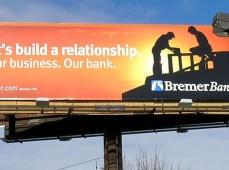 Наружная реклама банка