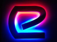 """LED вывеска буква """"Е"""""""