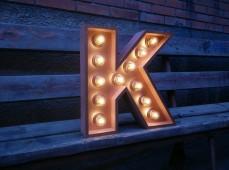 Объемная буква К