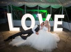 LOVE слово на свадьбе